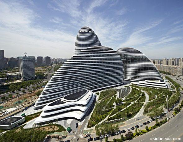 Tòa nhà Wangjing SOHO. Ảnh: Soho China